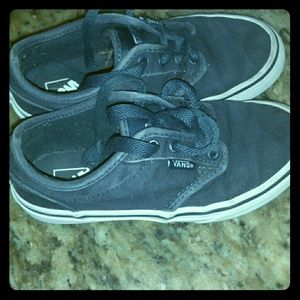 Vans Youth Navy Blue Lace Up Sneakers Size 13.5Y